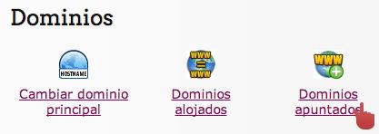 Añadir un dominio apuntado -1