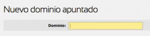 Añadir un dominio apuntado - 2