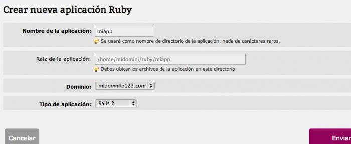 Configurar aplicación Rails 2