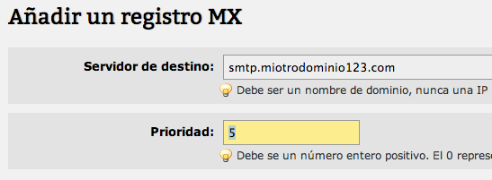 Hosting. Registros MX - 4