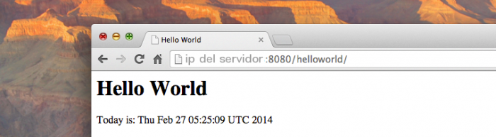 Hello World en Tomcat