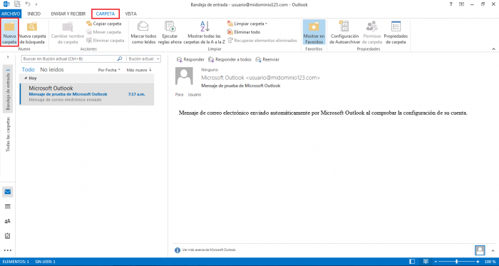 Configurar MS Outlook 2013 para atrapar correo SPAM en una carpeta