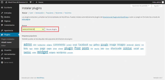 Instalar Plugin en WordPress