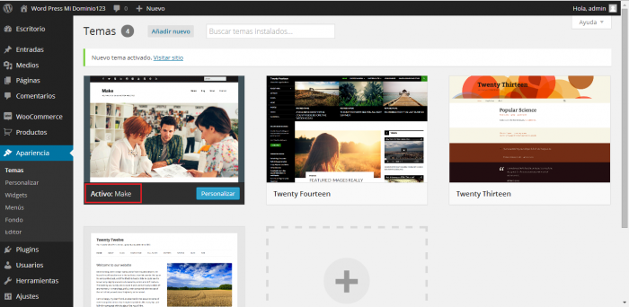 Instalar Theme en WordPress