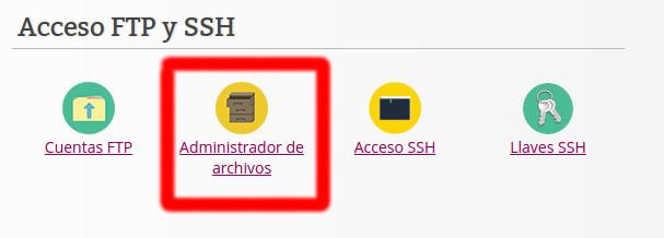 administrador de archivos de guebs