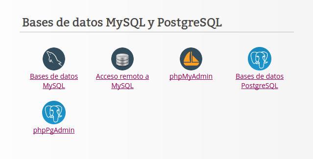 1-panel de hosting-bases de datos
