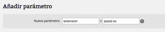 Cargar extensión pgsql.so en PHP